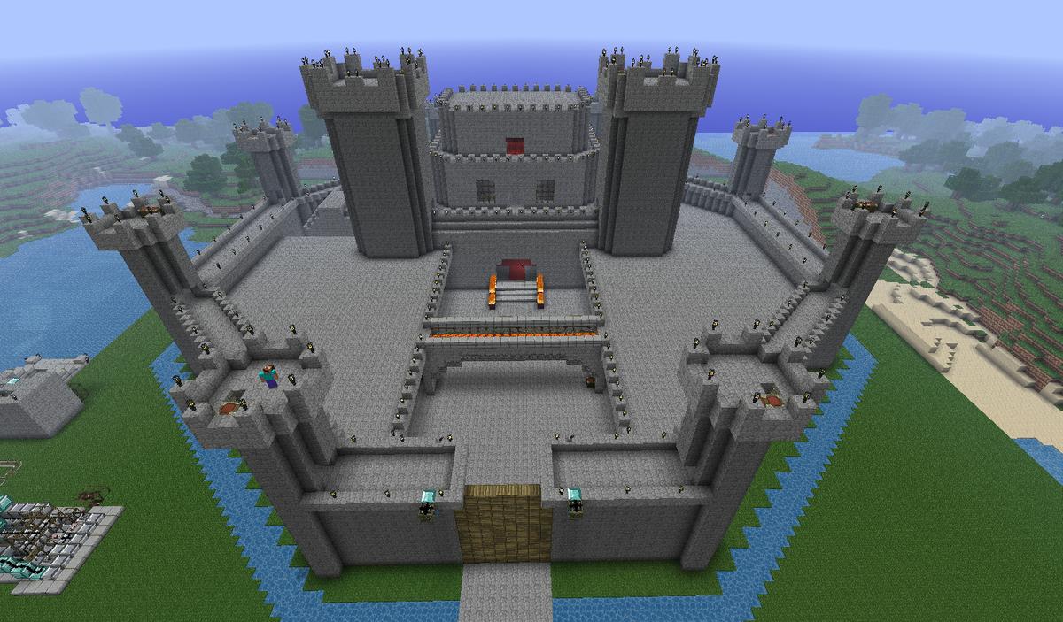 картинки майнкрафт постройки замков