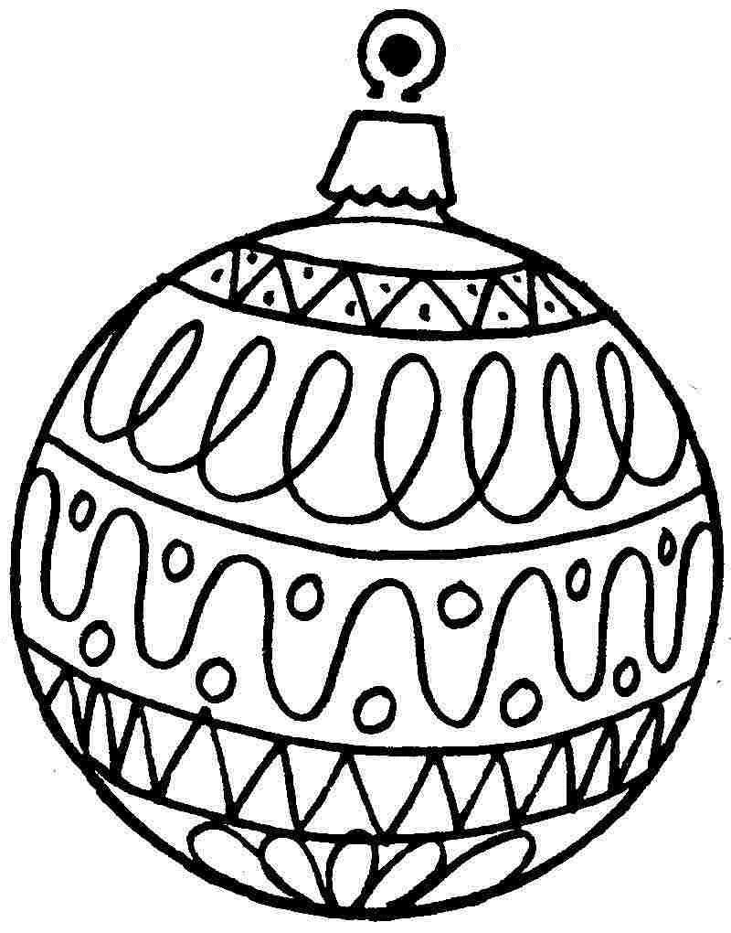 Новогодние шарики картинки раскраска