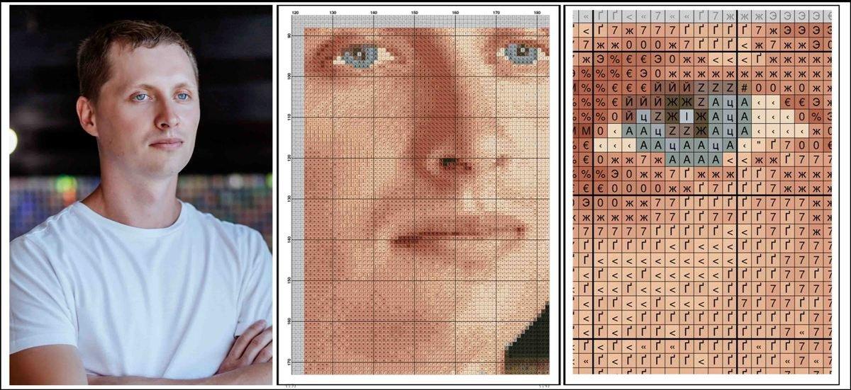 Схема для вышивки крестом по фото