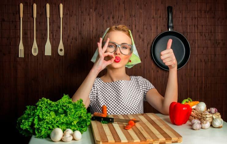 Прикольные картинки с едой для женщин, открытки послания