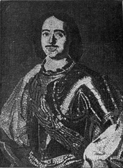 Петр I. Мозаика Ломоносова 1754г.