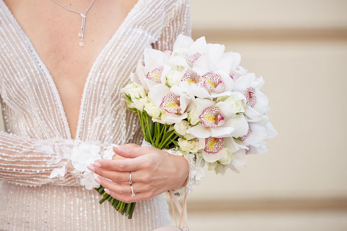 Букет невесты из орхидеи летом фото, москва недорого поштучно