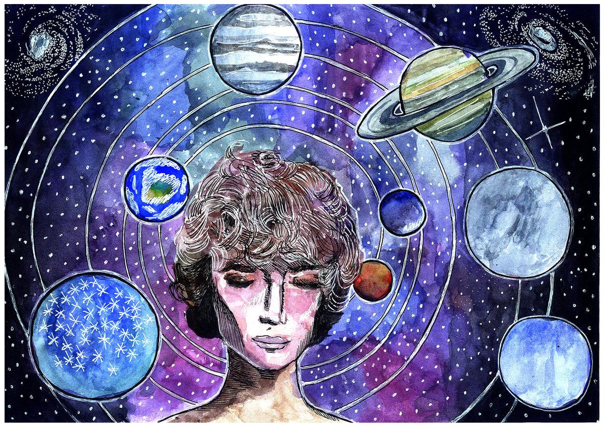 подробную рисунок ассоциации с космосом что есть много