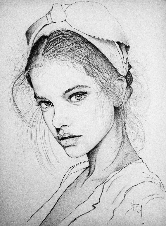 Картинка набросок женщины