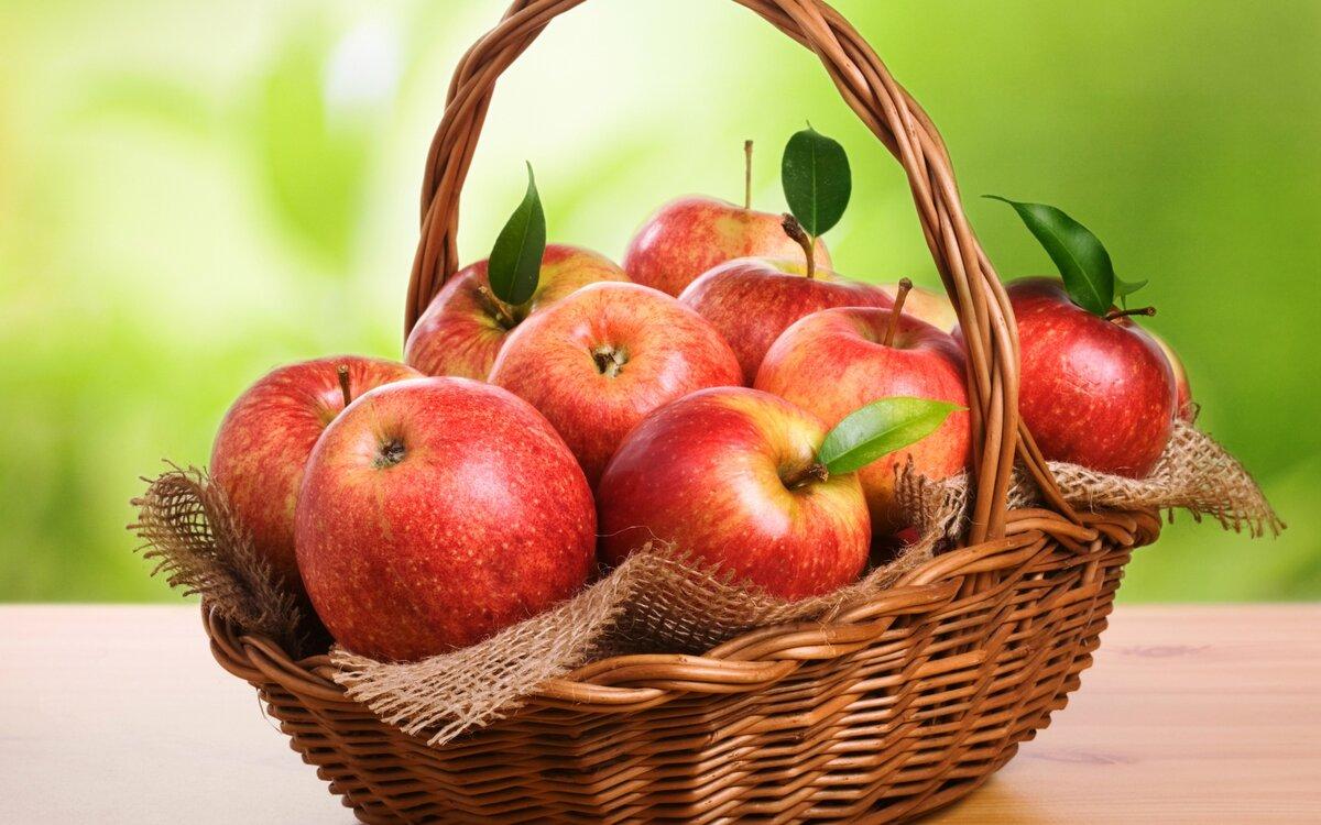 яблоки очищают организма