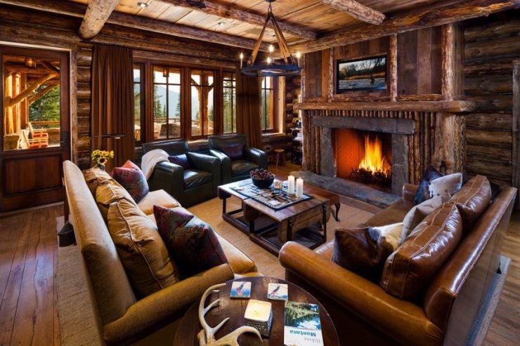 современной интерьер деревянного дома элитного этим