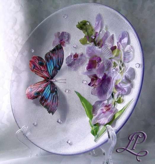 Декор на тарелках своими руками