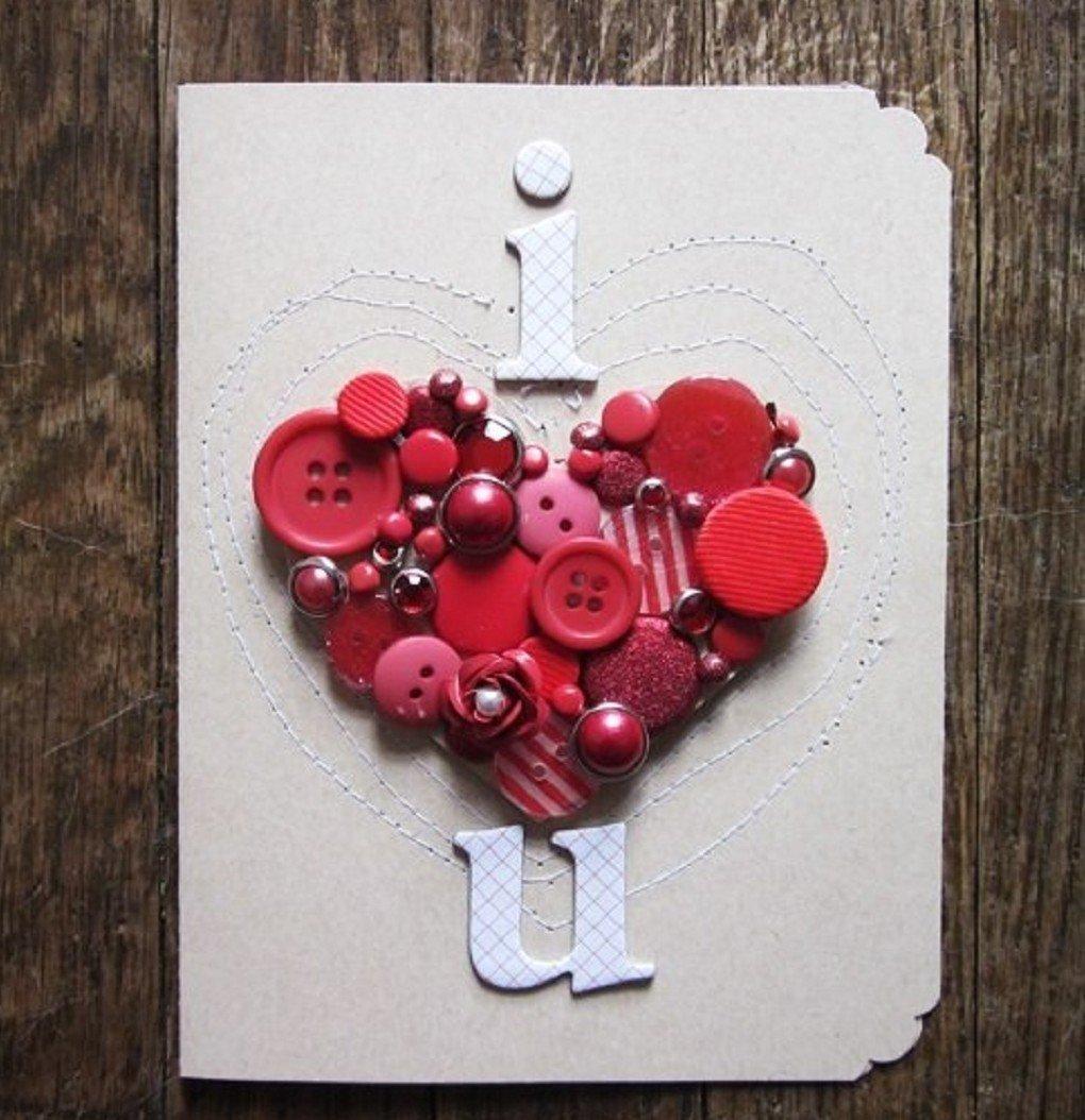 Как необычно украсить открытку, самая