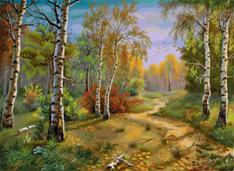 Вышивка природа русская