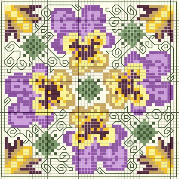 Схема вышивки бискорню