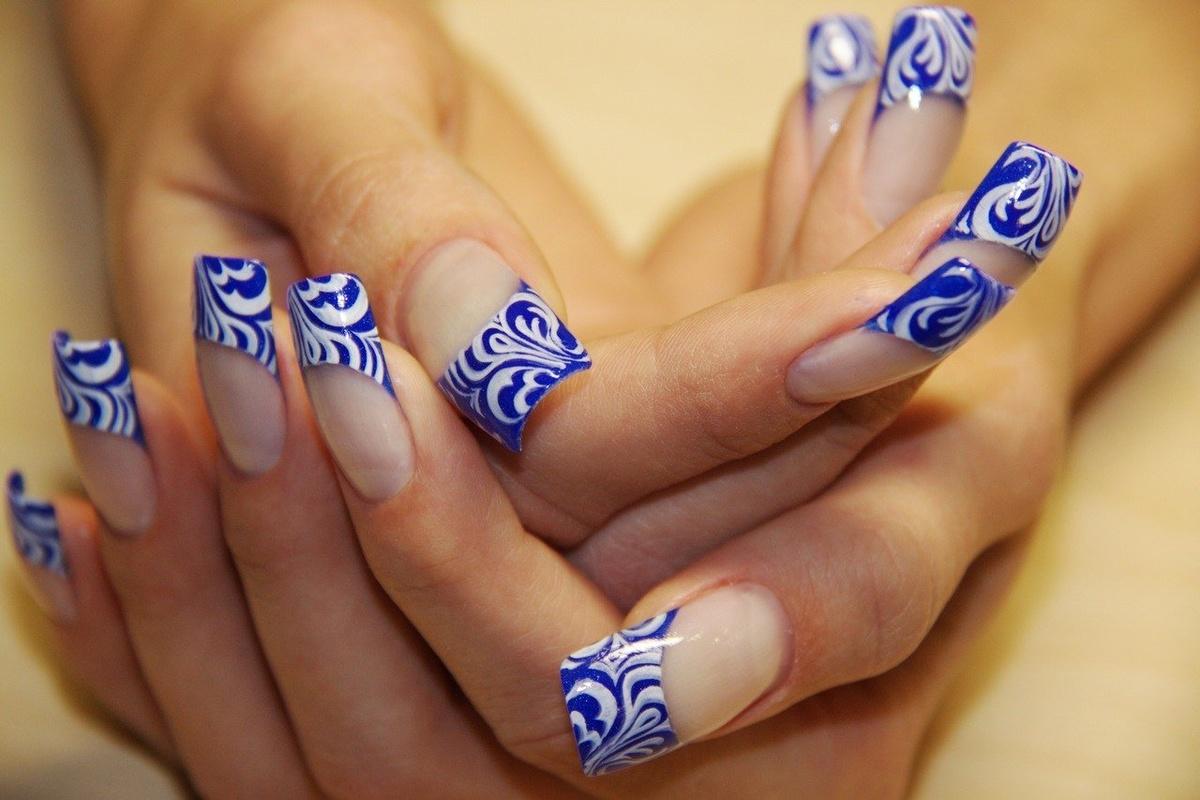 Разнообразные рисунки на ногтях