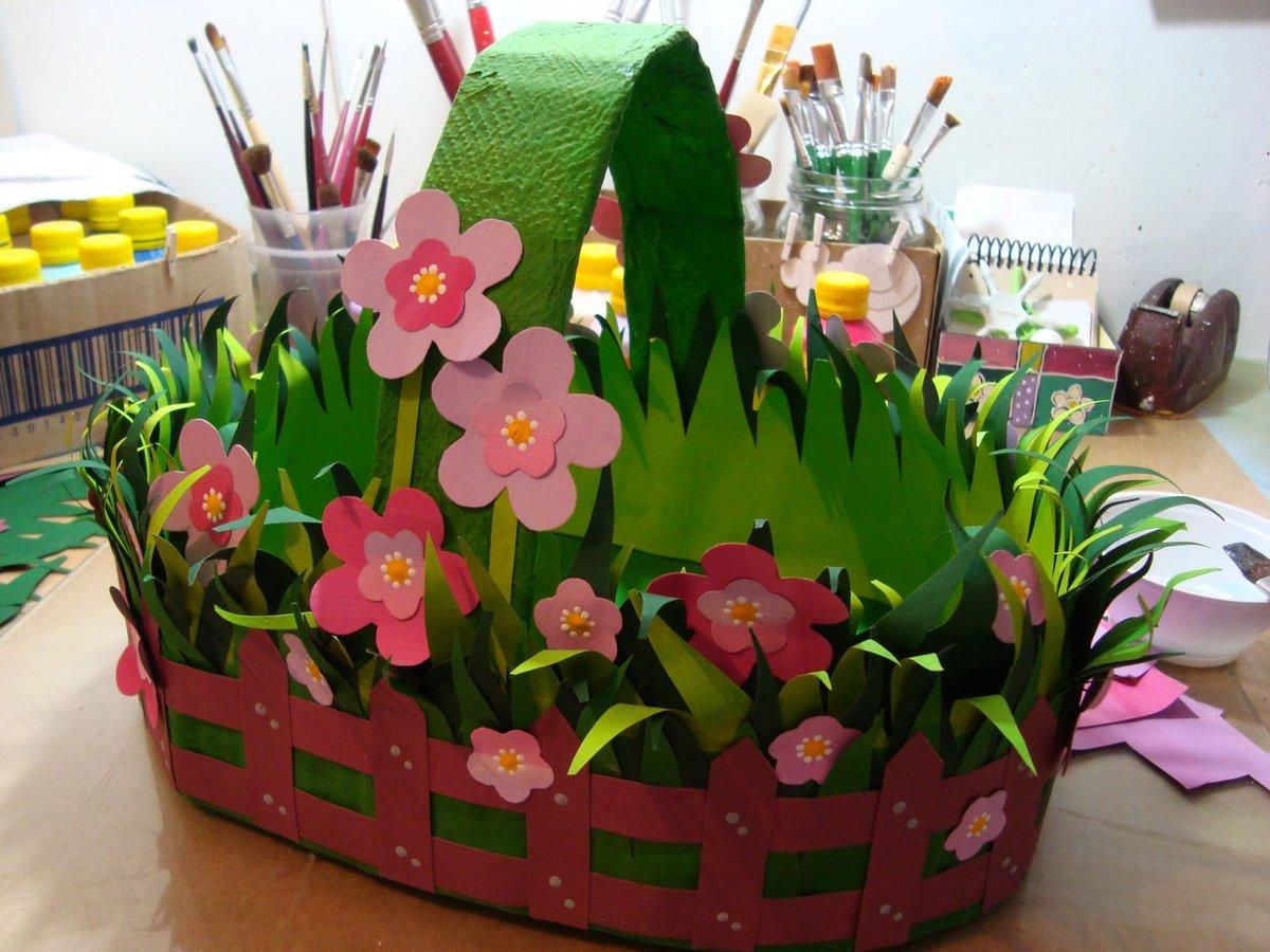 Подарки цветы в корзине своими руками из бумаги, корзина букет гвоздик