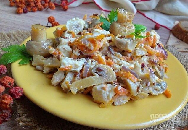 салаты из филе курицы с морковкой рецепт с фото