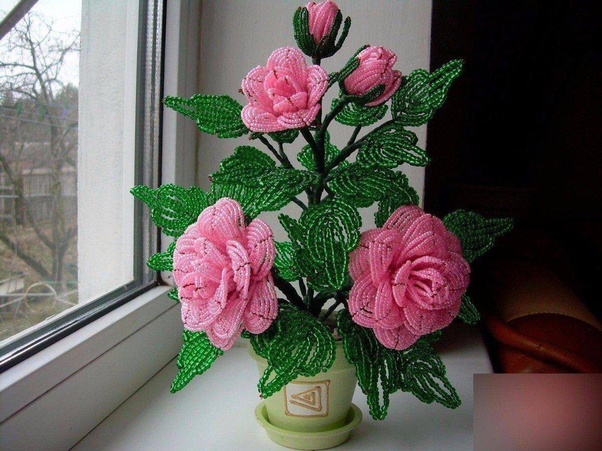 актера картинка поделки из бисера роза могут