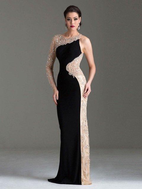 Длинное платье из бисера