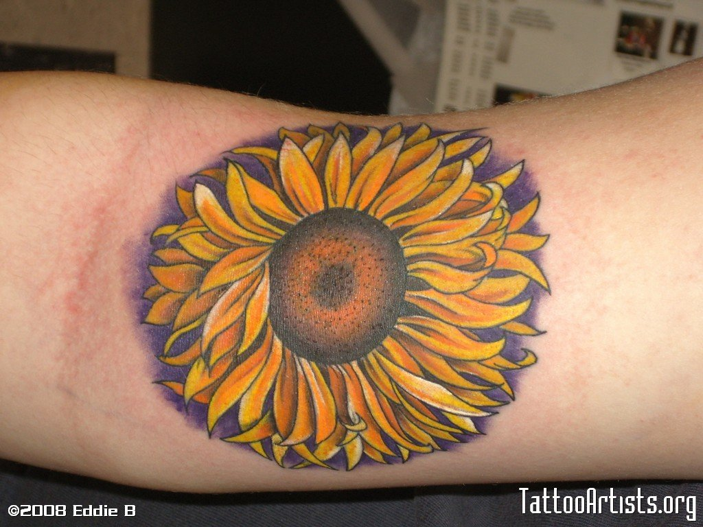 sunflower tattoo ideas - 1024×709