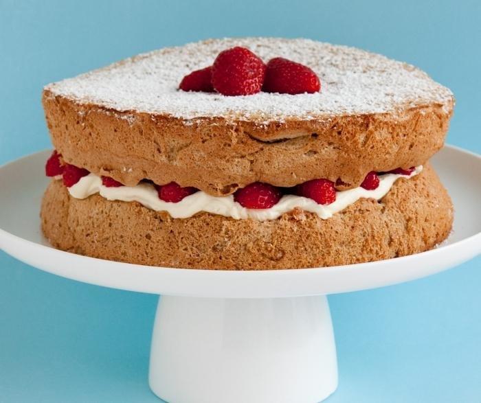 Торт бисквит сметане рецепт фото