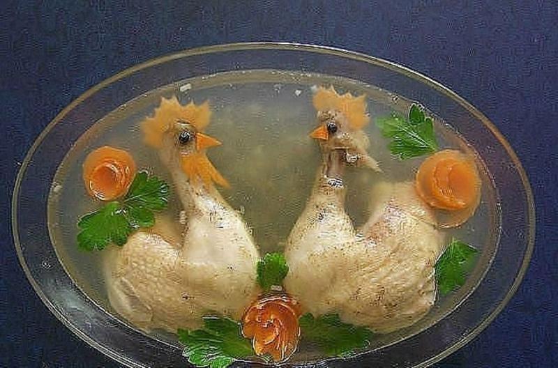 Рецепт Вкусного Заливного Из Курицы