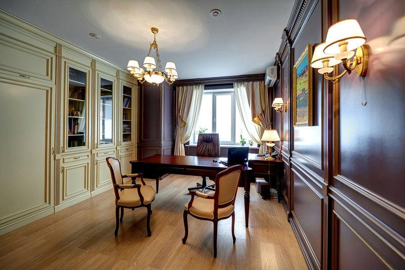 Кабинет в классическом английском стиле  Домашний кабинет из массива