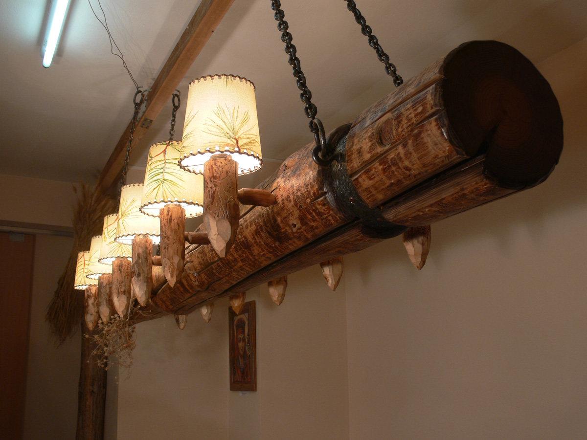 Деревянные люстры под старину фото