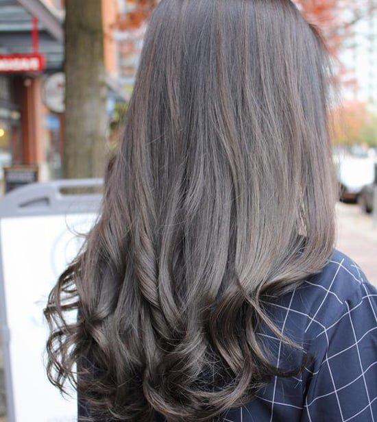Тёмный пепельный цвет волос фото