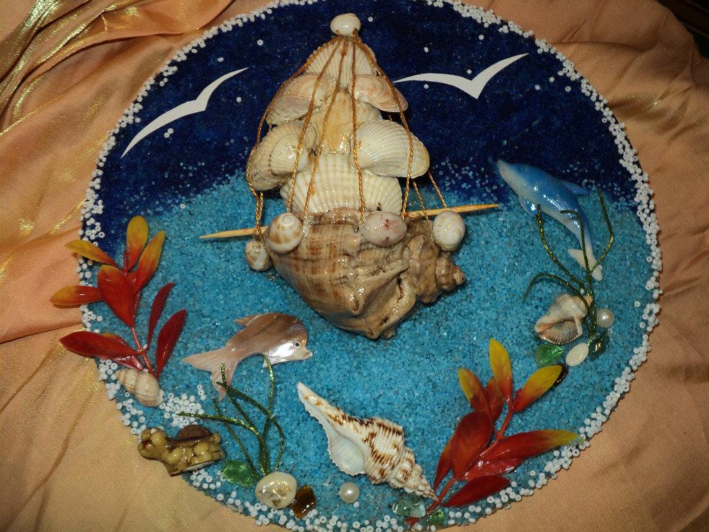 Для, детские морские картинки из природного материала для детского сада