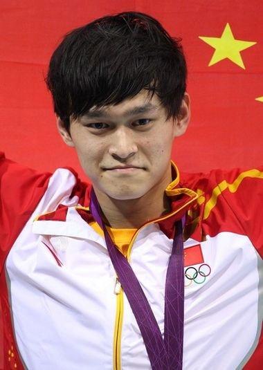 Сунь Янь. Плавание 400 м вольный стиль. Китай. Серебро