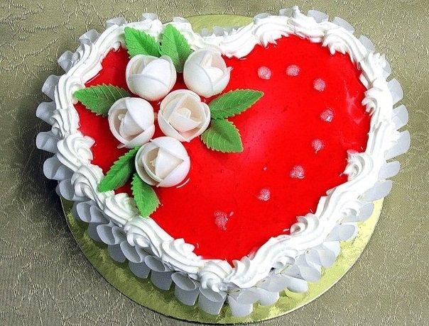 Фото торта ко дню валентина