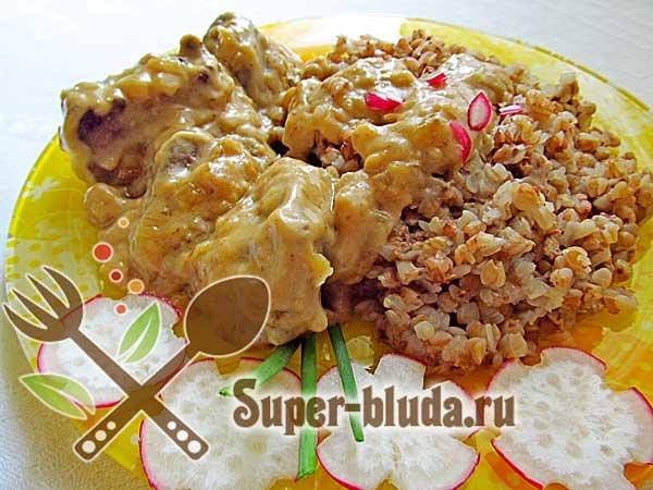 Печень по строгановски классический рецепт с фото