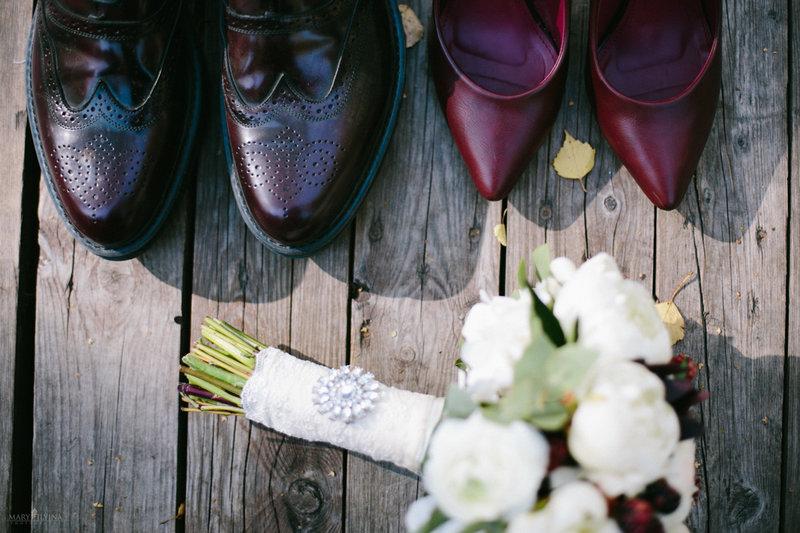 Сентябрьская свадьба в цвете марсала
