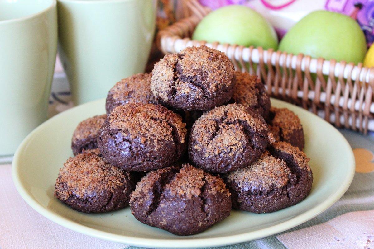 шоколадное печенье с какао рецепт с фото пошагово
