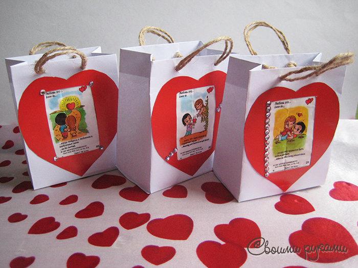 Подарки с love is своими руками