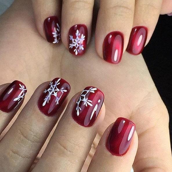 Дизайн ногтей красный цвет фото