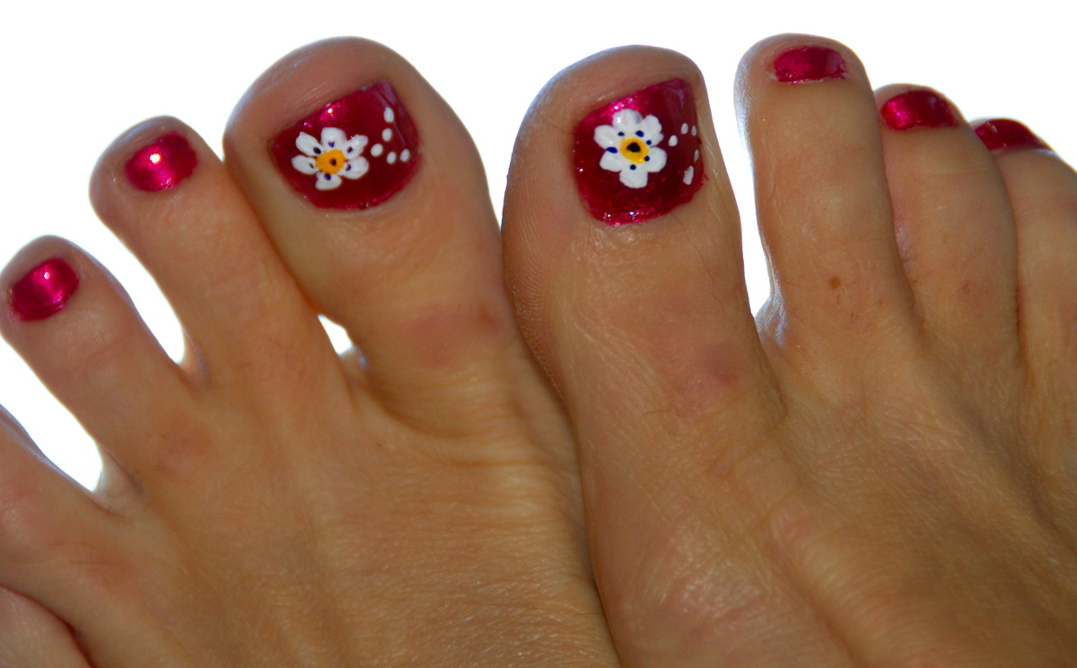 чаще рисунок на ногтях на ногах в картинках сорта феерия