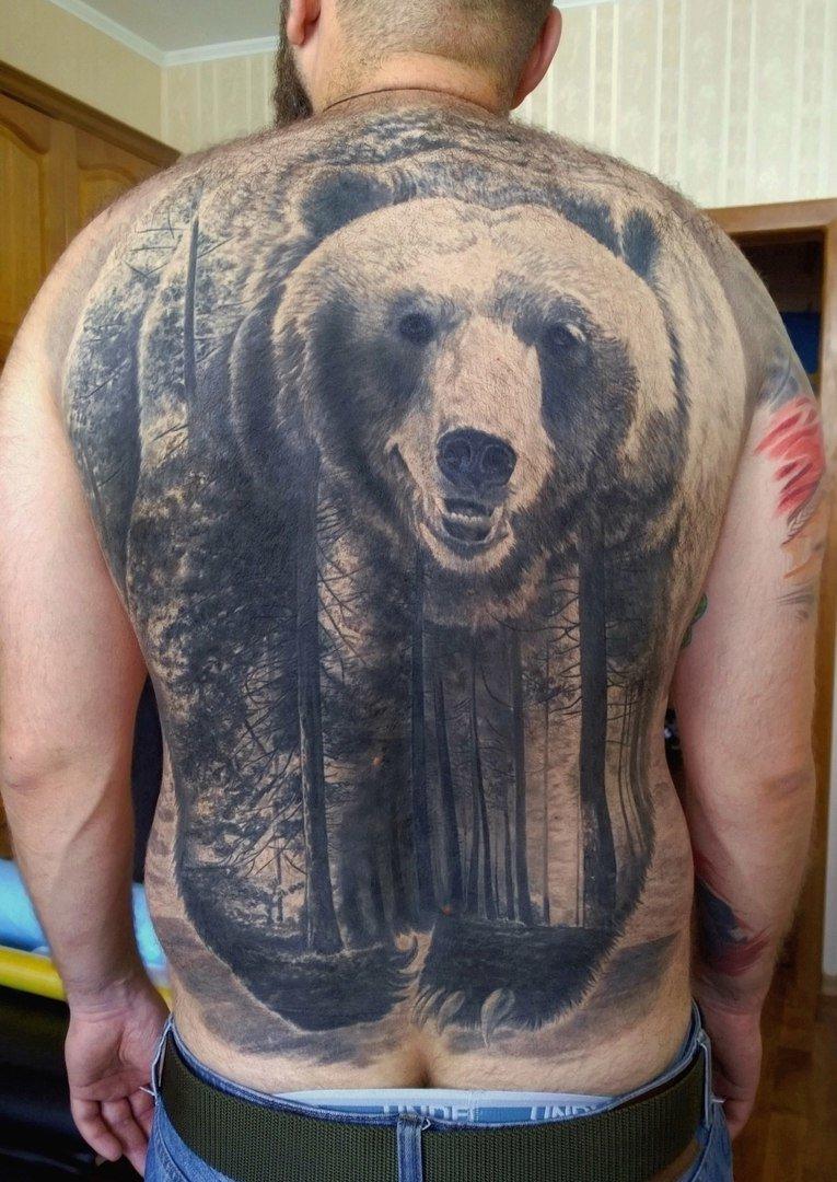 рассказывает, почему самые красивые тату с медведем фото увлекательный процесс
