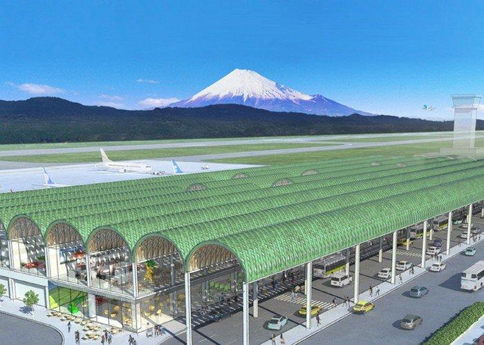 Новый терминал в Mt. Fuji Shizuoka Airport от архитектора Шигеру Бана.