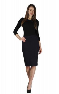 887cdd03cad4 Классическая юбка-карандаш черного цвета, сзади застежка на потайную  молнию. Женственный образ для