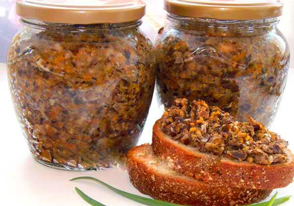 Икра из грибов на зиму рецепты с фото
