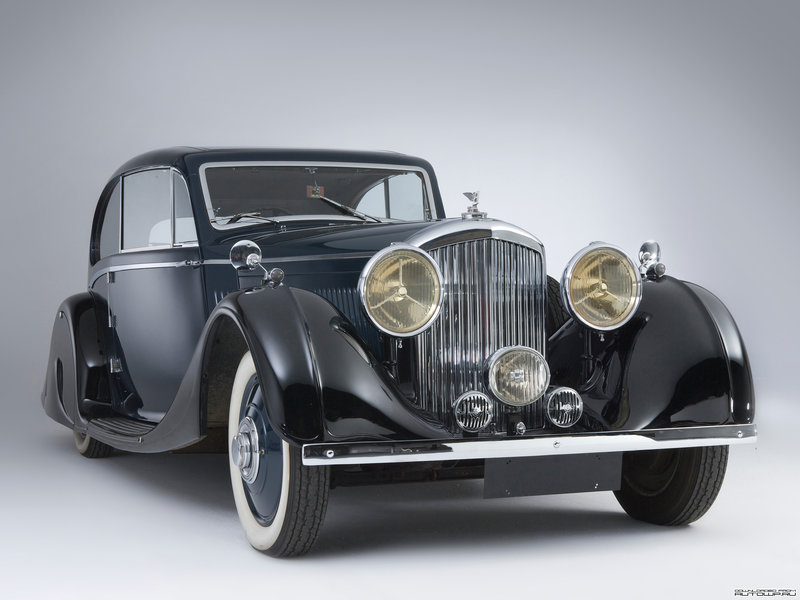 Bentley 3 ½ Litre Coupe 1935 wallpapers обои на рабочий стол бесплатно скачать