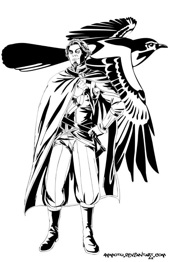 Черно-белые иллюстрации персонажей работы Ammotu — 7Королевств