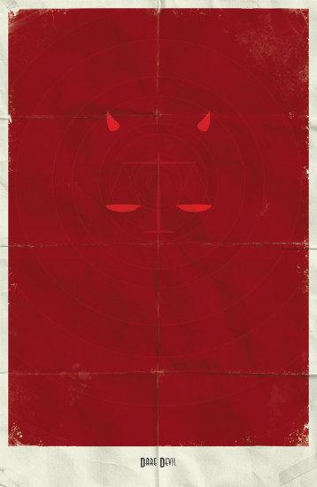 Dare Devil. Минималистичный постер