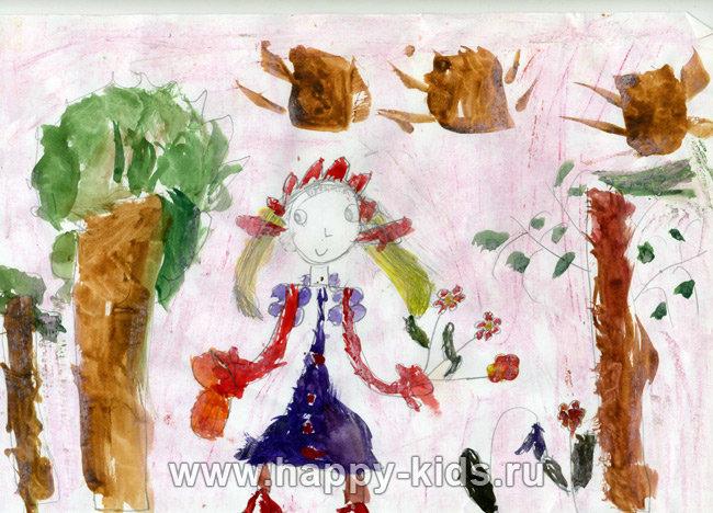 Детский рисунок, Женя Графская, 6 лет