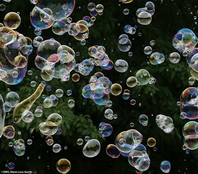 Фото мыльных пузырей