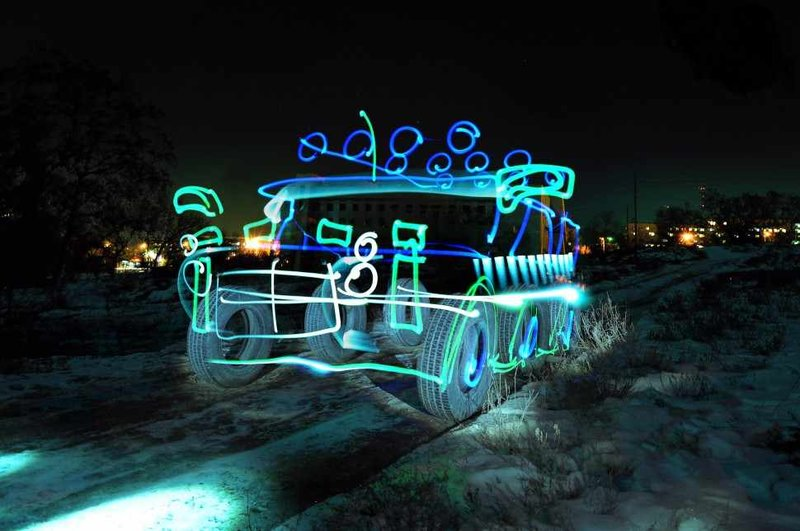 Фризлайт - Световое граффити - freezelight | Идеи для фотосессий. Уроки фотографии | eskant-foto.ru