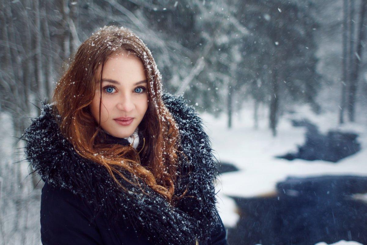 нашем женский зимний фотопортрет умывальник
