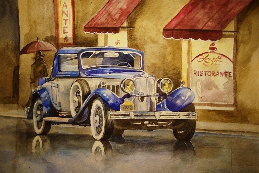 Картины ретро автомобили
