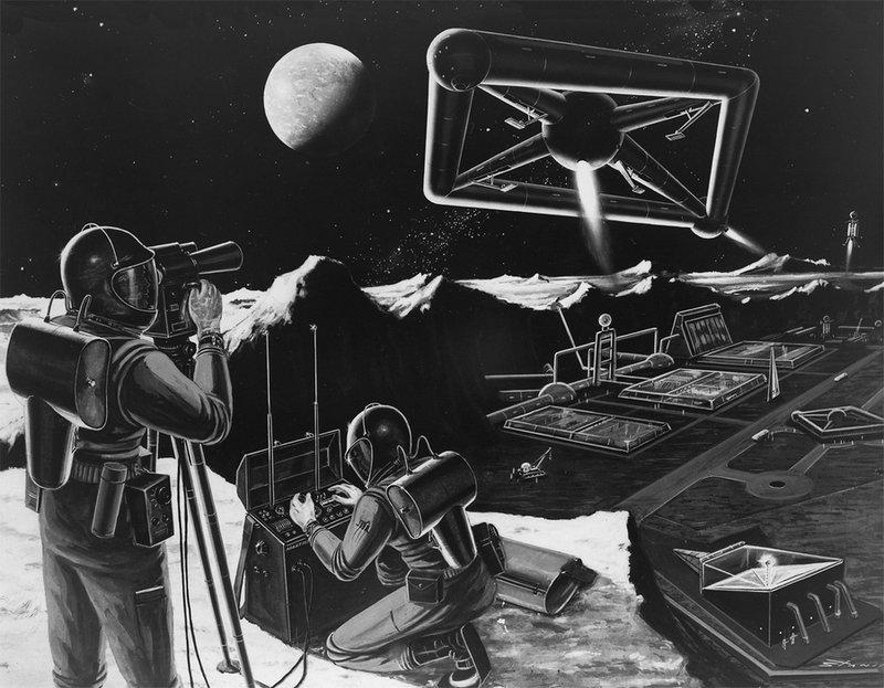 Научная база на Луне. Концепт 1959 года