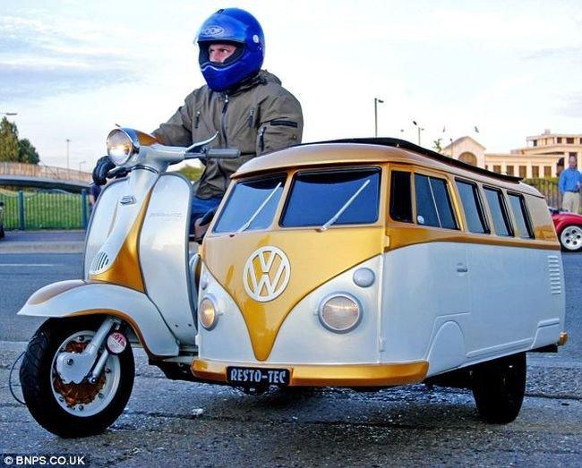 Необычные мотоциклы с колясками