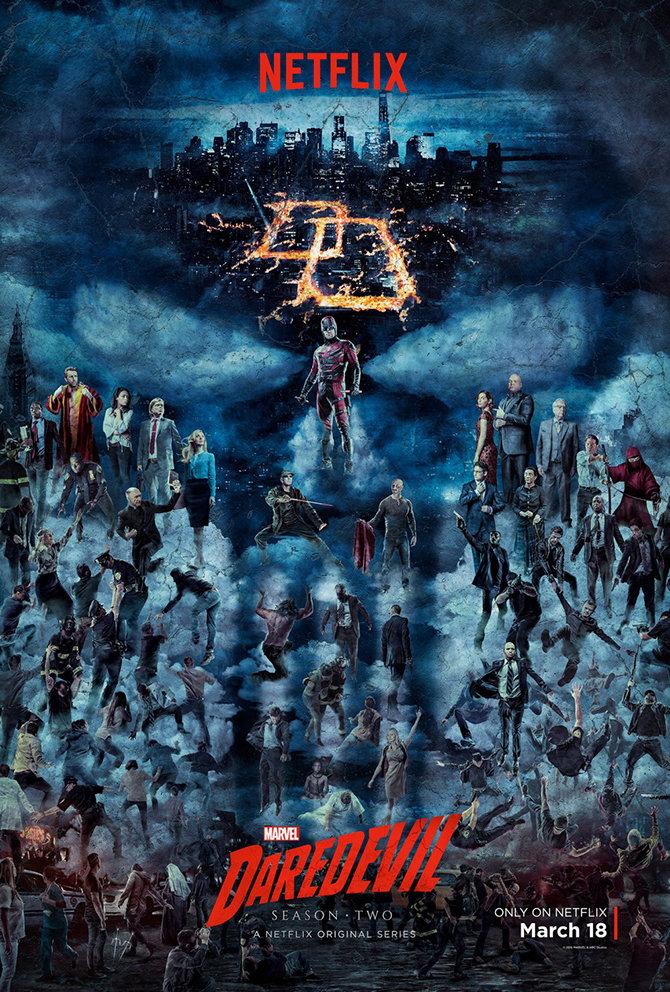 Постер второго сезона «Сорвиголовы»