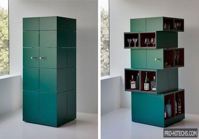 Сюрреалистичный шкаф, экономящий пространство в помещении